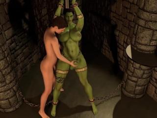 Prisoner ork milked...