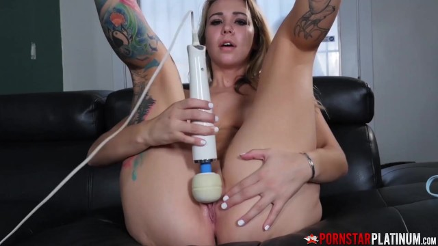 PORNSTARPLATINUM Natural Tits Jazmin Grey Solo Pussy Play