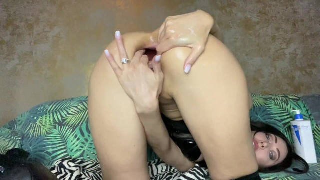 Hotkinkyjo extreme seahorse dildo from mrhankey anal fisting & prolapse 2