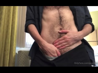 Young guy hairy chest body...
