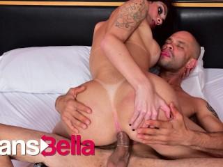 Transtaboo hot blowjob sex for busty transbella...
