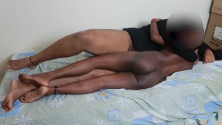 Fucking my Black STEP SISTER when parents went for shopping!!!