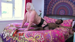 AGEDLOVE British Mature Lacey Starr Interracial Blowjob and Harcore Sex