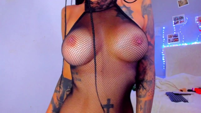Big Tits;Exclusive;Verified Amateurs;Solo Female big-tits, fishnet, great-body, inked, tanned, fake, big-boobs