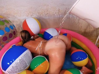 Scarlett J's Summer Time Playset Includes Blonde in Bikini and Extra Lube! Rinse after Fucking.