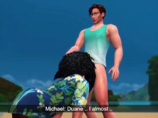 2 boys blowjob outdoor beach island series ep...