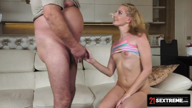 21Sextreme Lylyta Yung Deepthroats Old Mans Entire Cock In Her Tiny Blonde Mouth 16