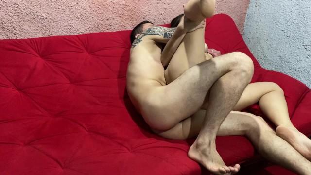 milf crazy horny bitch enjoys her husbands cock and gets a huge cumshot 12