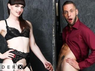 Genderx trans babe natalie mars gloryhole stall...