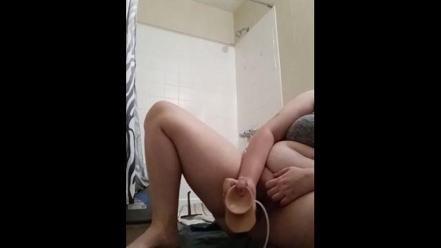 Bbw cums in her new bathroom 18