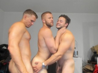 Boy jamesy getting fake fucked while making out...