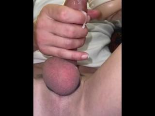 Cumshot down balls asshole...