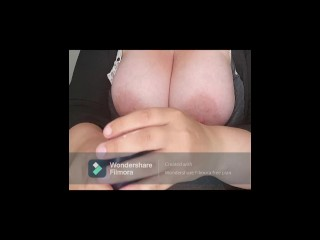 Dildo hand job and areolas showing...