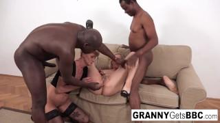 Some Sexy Grandmas Love Taking Black Cock Anally