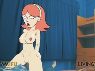 Rick morty jessica real 2d cartoon animation big...