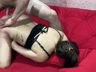 Naughty crown hot ass with her husband...