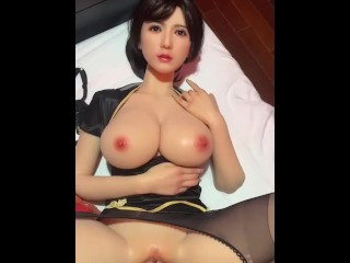 Pov anal with hot sex doll big tits...
