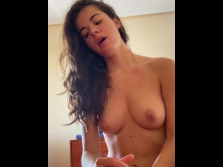 Intense morning sex with screaming orgasm and cum in mouth. Relationship goals. True love intimacy