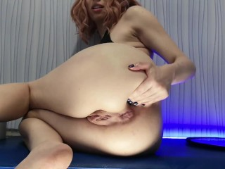 Slut fist while dildo totally lost insertions...