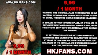 HKJFANS Extreme deep dildo in XO Speculum, anal gape & prolapse by Hotkinkyjo