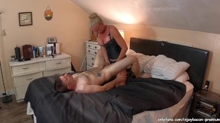 Husband gives CUNNILINGUS Best PUSSY FUCK after Beautiful wife gives him Hard STRAPON PEGGING