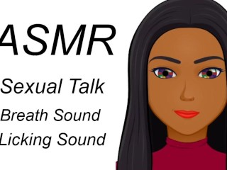 Asmr sexual talk licking breath sound...