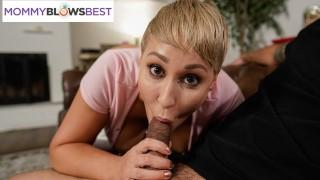 Big Tittied Stepmom Gives Amazing Blowjob - MommyBlowsBest