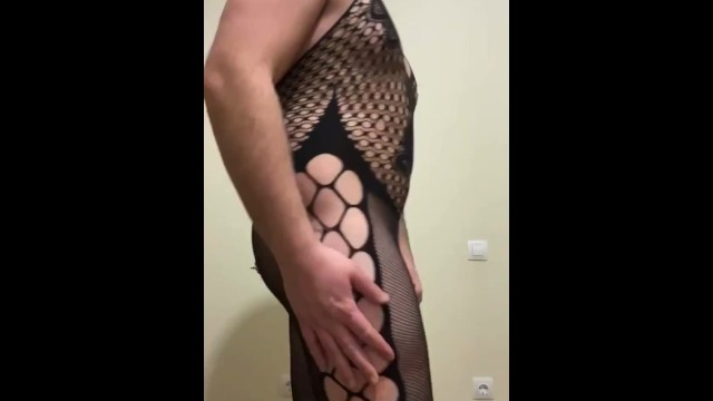 Butt pluged sissy 6