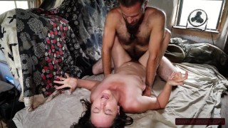 First Time Fucking With Butt Plug in Gives Hairy MILF Intense Multiple Orgasms
