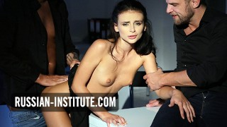Forbidden threesome with a sexy teenager Kate Rich