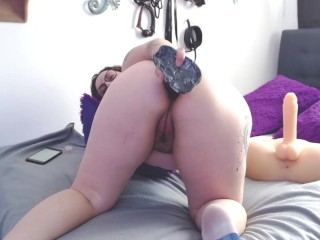 Breaking my poor culito with my dildo of...