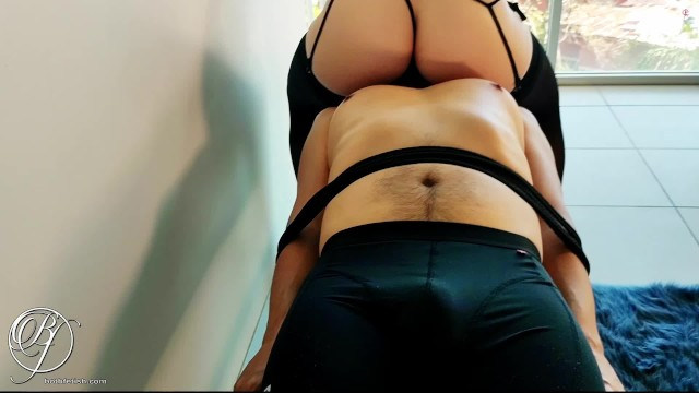 I made my submissive EAT my ass while I slapped his penis 8