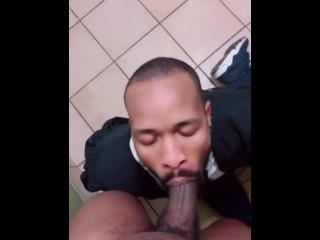 Marlon67 deepthroating big dick...
