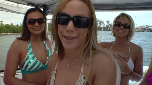 Wild lesbian sex outdoor on a luxury boat 6