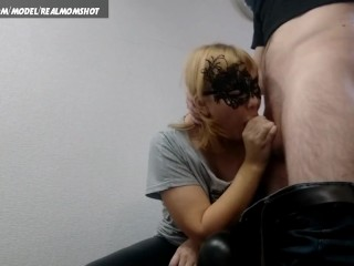 Chubby mom doggystyle hard fuck ends cumshoot on back
