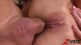 ZVIDZ - Adorable Julia G Double Penetrated In Threesome