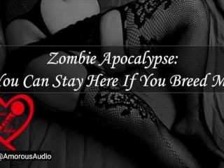 Zombie apocalypse stay here breed f4m...