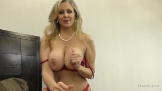 Mature Lady Julia Ann Makes You Cum With Her Hands And Feet!