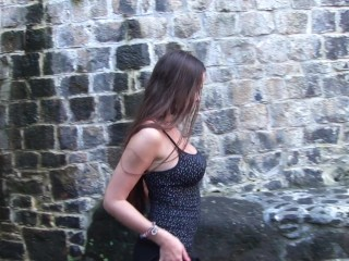 Hot slut wants to play in the old castle ruins