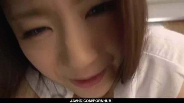 Mayuka Akimoto provides blowjob in POV before a good fuck 18