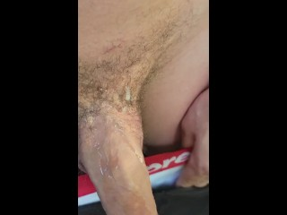 Johnholmesjunior flashing his monster cock while its dripping...