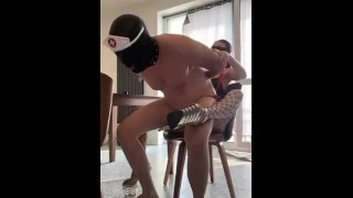 Stupid bitch is riding Mistress cock- full clip on my Onlyfans (link in bio)