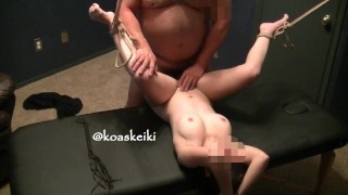 Dominant Daddy properly uses his submissive wife