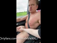Driving Naked and a Handjob