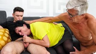 Cum play with us, granny!