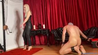 Mistress Alexandra Wildfire - Trampling in Yellow Stilettos (trailer)