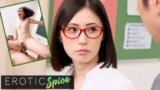 Deviante Cute Japanese wife cheats with her teacher colleague and gets a wet creamy pussy creampie