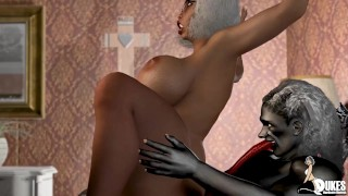 Big booty Church lady get fucked by thick cock monster