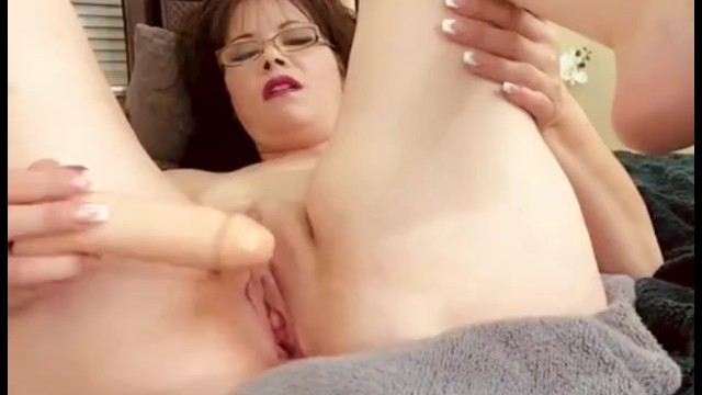Pretty Naked MILF Fucks own Pussy with Hard Dildo. Multiple Orgasms Gspot 41