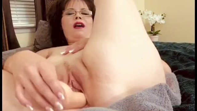 Pretty Naked MILF Fucks own Pussy with Hard Dildo. Multiple Orgasms Gspot 3